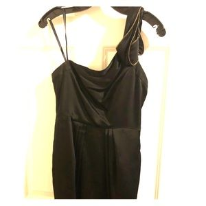 BCBG MaxAzria one-shoulder cocktail dress
